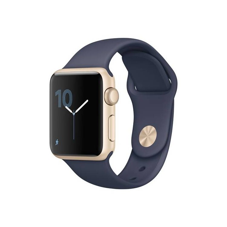Apple Watch Series 1, 38mm Gold Aluminium Case with Midnight Blue Sport Band MQ102CN/A