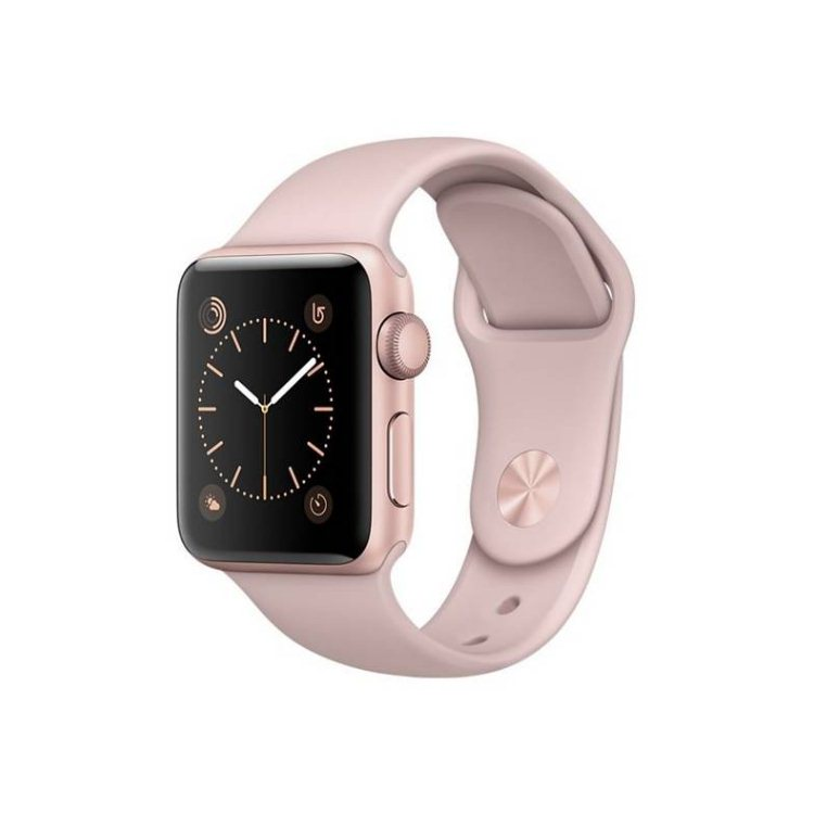 Apple Watch Series 1, 38mm Rose Gold Aluminium Case with Pink Sand Sport Band MNNH2CN/A