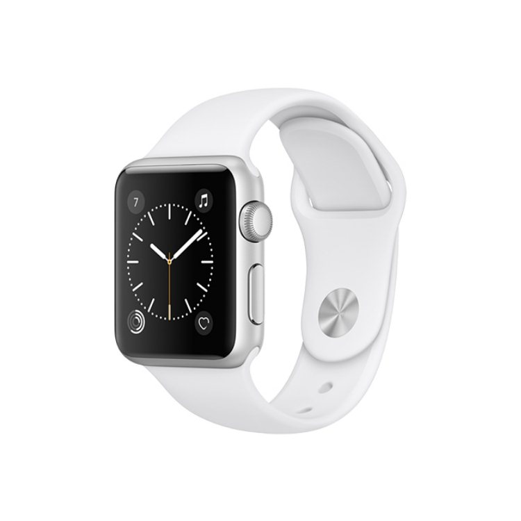 Apple Watch Series 1, 38mm Silver Aluminium Case with White Sport Band MNNG2CN/A