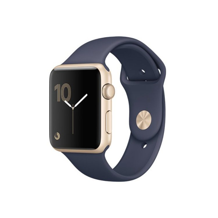 Apple Watch Series 1, 42mm Gold Aluminium Case with Midnight Blue Sport Band MQ122CN/A