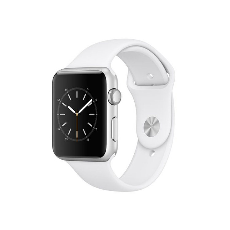 Apple Watch Series 1, 42mm Silver Aluminium Case with White Sport Band AWAPMP032