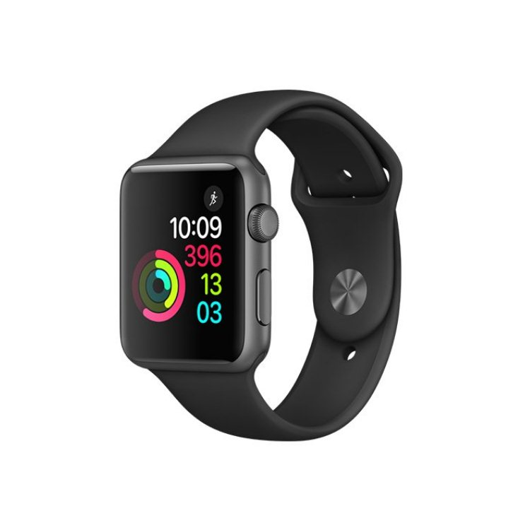 Apple Watch Series 1, 42mm Space Grey Aluminium Case with Black Sport Band MP032CN/A