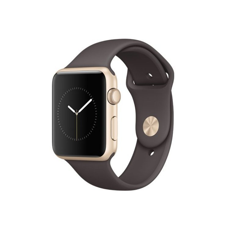Apple Watch Series 2, 42mm Gold Aluminium Case with Cocoa Sport Band MNPN2CN/A