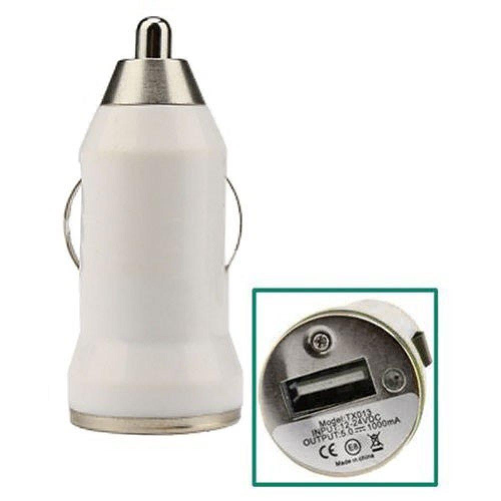 Autonabíjačka 4-OK, 1x USB port, 12/24V - 1000mAh, univerzálna, biela