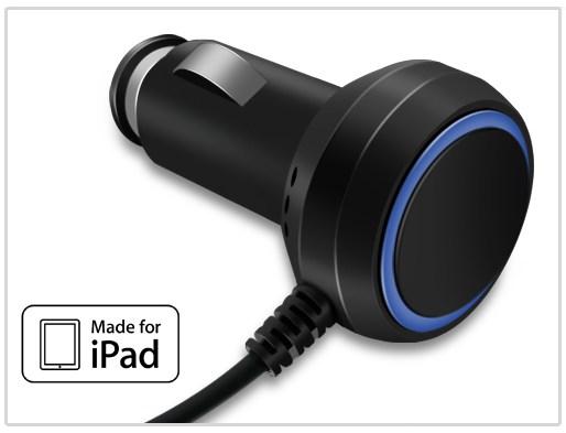 Autonabíjačka Kidigi pre Apple New iPad, iPad 2 a iPad - 2,1A, Black PKI-069