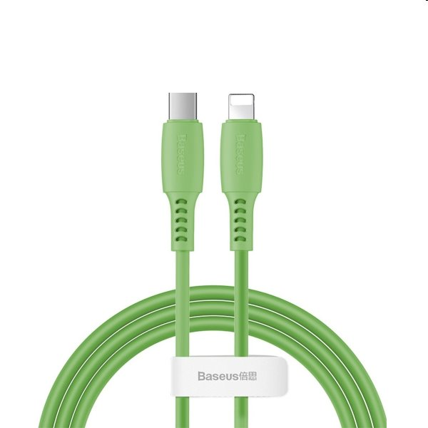 Baseus Colourful Cable USB-C/Lightning 18W 1.2m, zelený CATLDC-06