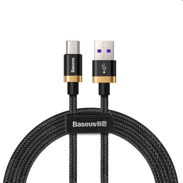 Baseus Purple Gold Red USB / USB-C Cable s Nylon Braid SuperCharge 40W Quick Charge 3.0 QC3.0 1M black (CATZH-AV1)