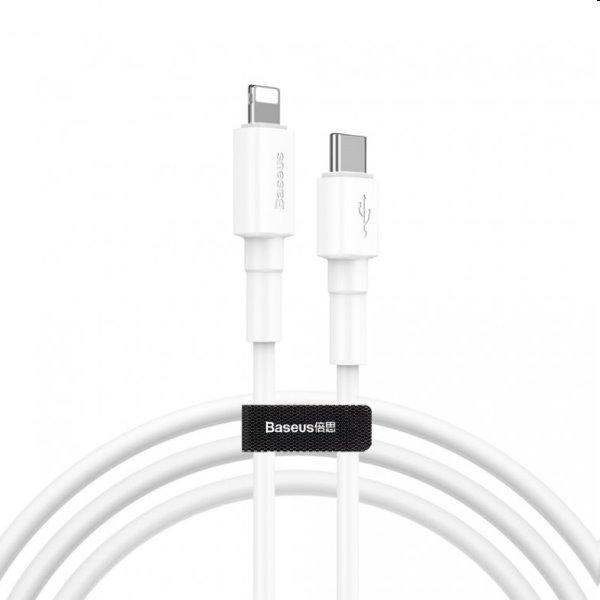 Baseus Mini Cable USB-C/Lightning PD 18W, biely