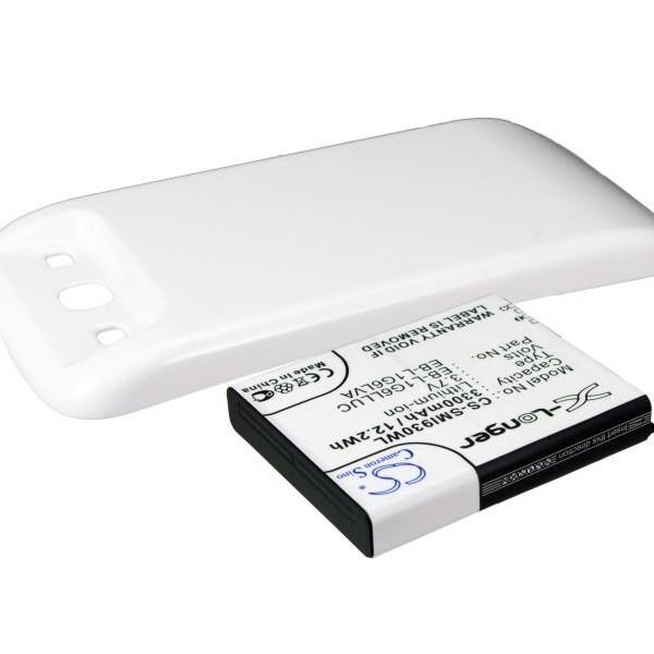 Batéria (3300mAh) pre Samsung Galaxy S3 - i9300 a S3 Neo - i9301 + kryt | Marble white