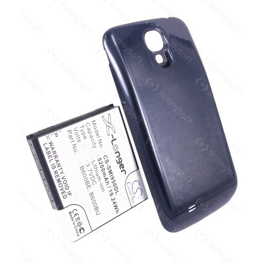 Batéria Cameron Sino pre Samsung Galaxy S4 - i9505, i9500 a i9506, (5200mAh) + náhrady kryt v modrej farbe