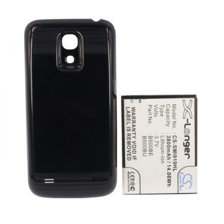 Batéria Cameron Sino pre Samsung Galaxy S4 Mini - i9195, i9190 a i9195i, (3800 mAh) + náhrady kryt v čiernej farbe