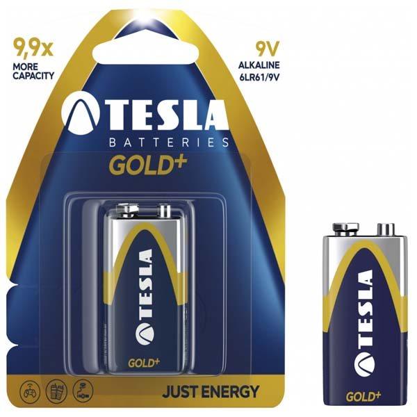 Batéria typ 9V(6LR61), TESLA GOLD+, 1 kus