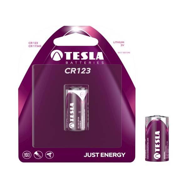 Batéria typ CR123 (CR17345), TESLA, 1kus