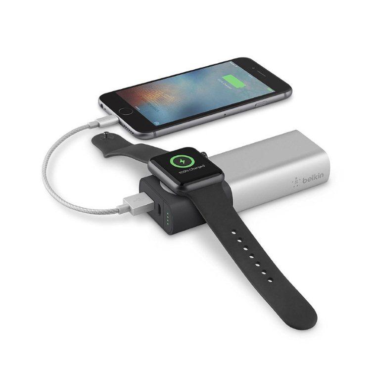 Belkin Valet Powerbank pre Apple Watch, 6700 mAh, Black/Silver