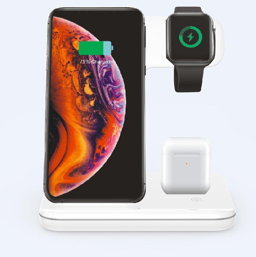 Bezdrôtová nabíjacia stanica 3v1 pre iPhone, Apple Watch a Airpods