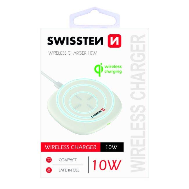 Bezdrôtová nabíjačka Swissten 10W, biela