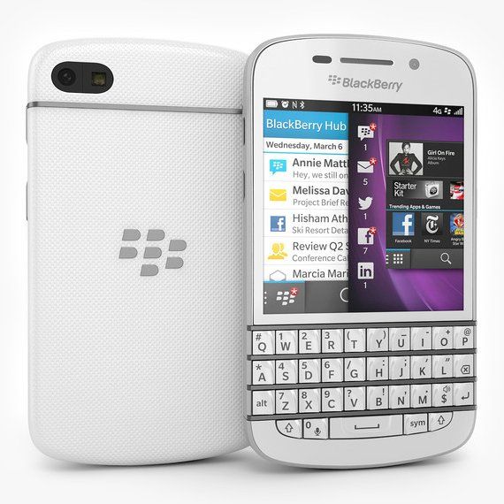 BlackBerry Q10 - Qwerty, White - SK distrib�cia