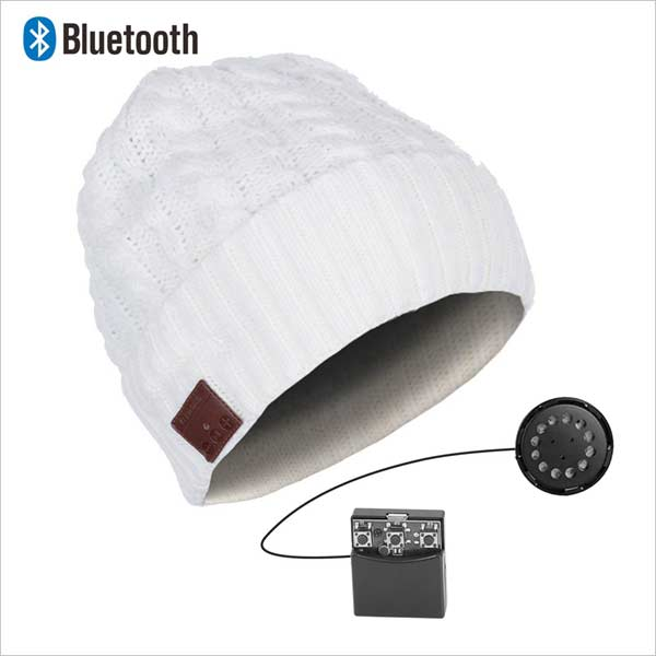 Bluetooth čiapka, biela