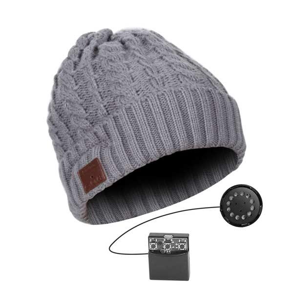 Bluetooth čiapka, šedá