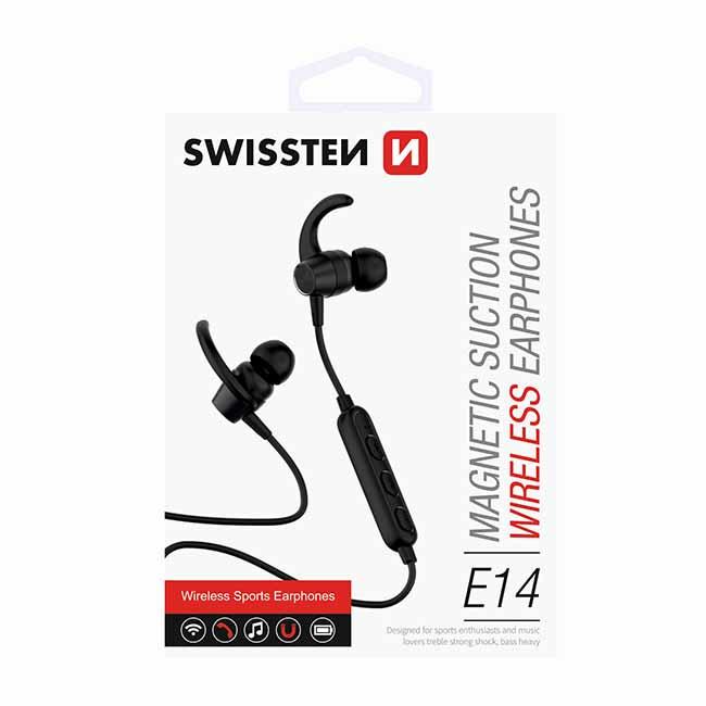 Bluetooth slúchadlá Swissten Active, čierne