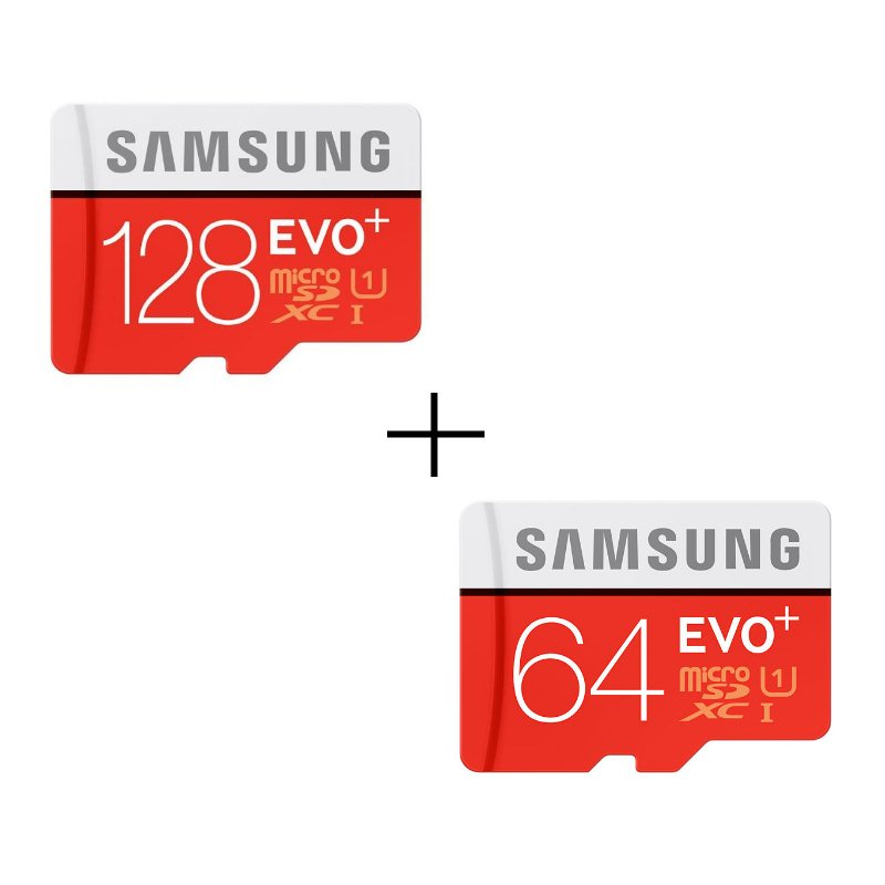 Bundle - Samsung Micro SDXC EVO Plus 128GB + Samsung Micro SDXC EVO Plus 64GB