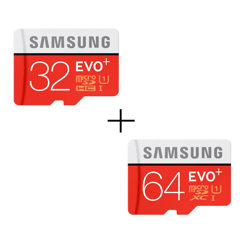 Bundle - Samsung Micro SDXC EVO Plus 64GB + Samsung Micro SDHC EVO Plus 32GB