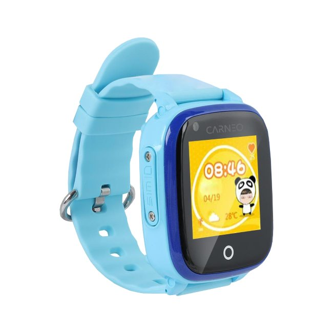 Carneo GuardKid+ 4G - Smart hodinky s GPS pre deti, Blue