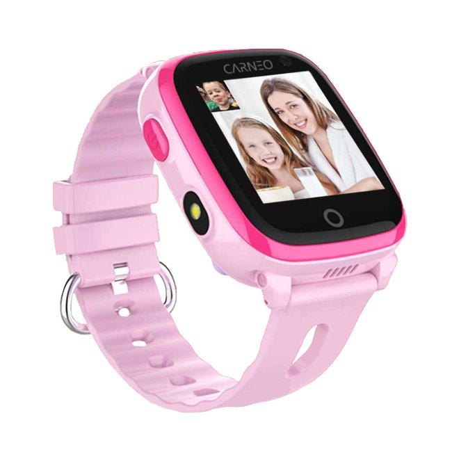 Carneo GuardKid+ 4G - Smart hodinky s GPS pre deti, Pink