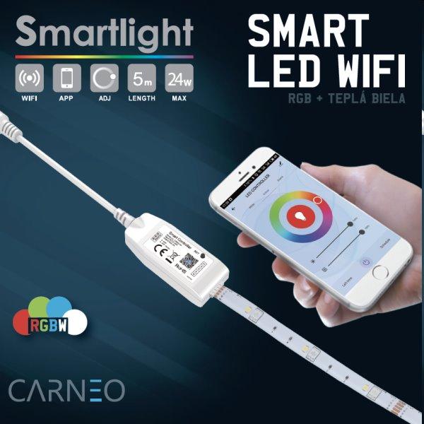 Carneo Smartlight RGBW LED pás 5m, farebný