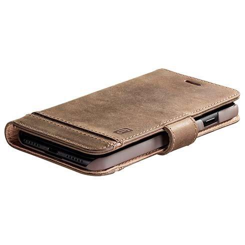 CellularLine premium leather booklet case Supreme for Apple iPhone 12 Pro Max, brown SUPREMECIPH12PRMN