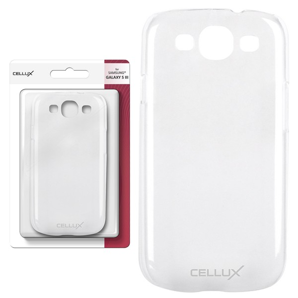 CELLUX Back Case - Samsung Galaxy S3, frosted-clear