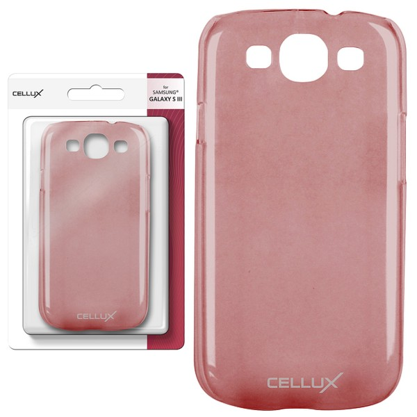 CELLUX Back Case - Samsung Galaxy S3, frosted-red