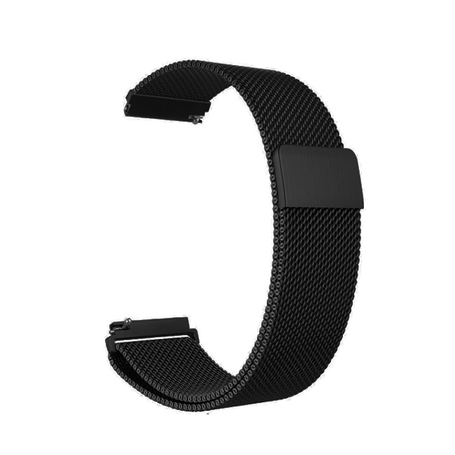 Čierny kovový náramok Milanese Loop pre Samsung Galaxy Watch - SM-R800, 46mm
