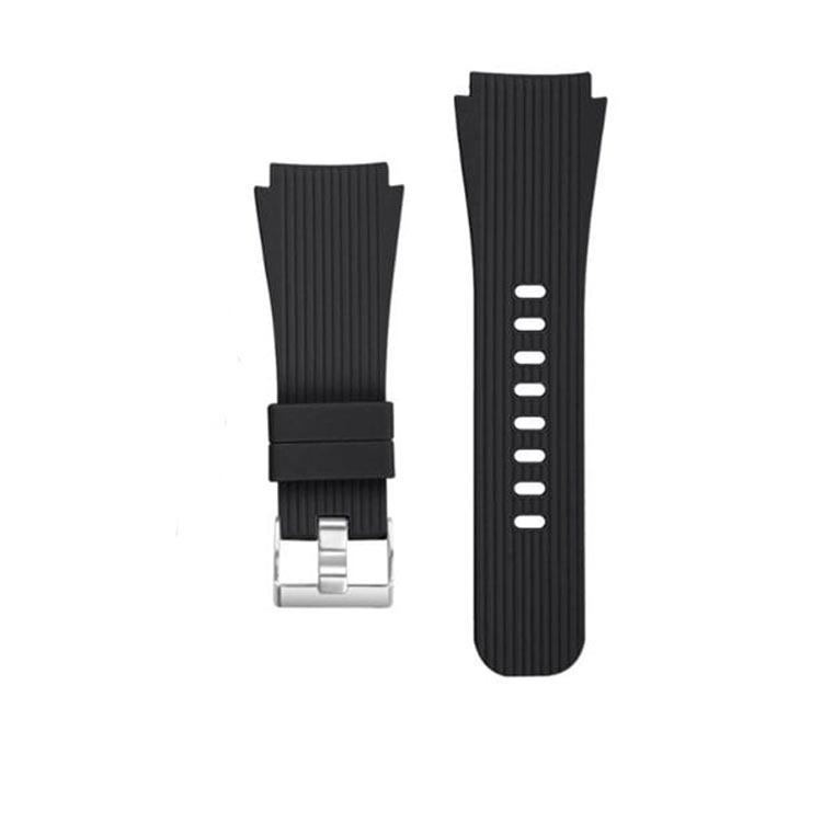 Čierny silikónový náramok pre Samsung Galaxy Watch - SM-R800, 46mm