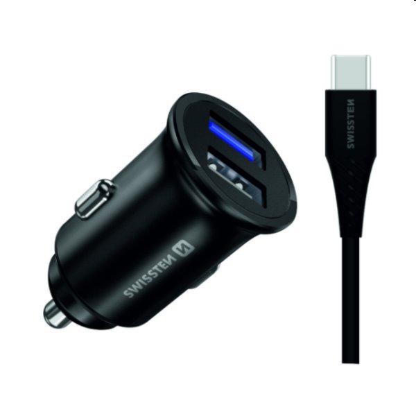 CL adaptér Swissten pre Huawei Super Charge 22.5W + kábel Huawei Super Charge 5A 1,5m, čierny