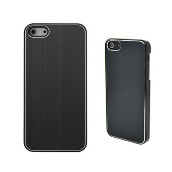 COVER METAL COLOR BLACK IPHONE 5