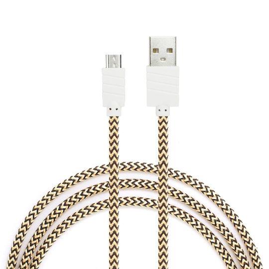 Dátový a nabíjací kábel s Micro USB konektorom, dĺžka 1 meter, Gold
