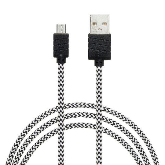 Dátový a nabíjací kábel s Micro USB konektorom, dĺžka 1 meter, Grey