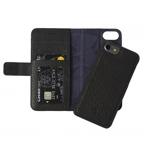 Decoded puzdro Leather Detachable Wallet pre iPhone 7/8/SE 2020 - Black D6IPO7WC4BK