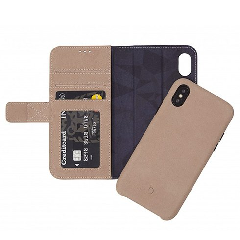 Decoded puzdro Leather Detachable Wallet pre iPhone XS/X - Naturel D8IPOXWC7NL
