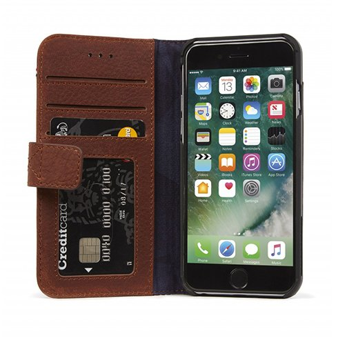Decoded puzdro Leather Wallet Case pre iPhone 7/8/SE 2020 - Brown D6IPO7WC3CBN