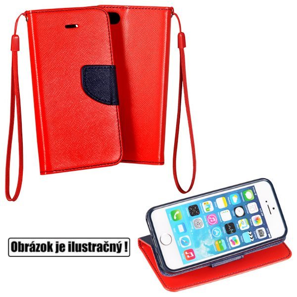 Diárové puzdro Fancy pre Apple iPhone 6 Plus a 6S Plus, Red