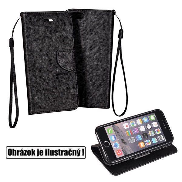Diárové puzdro Fancy pre Lenovo Vibe K5 Note a K5 Note Fingerprint, Black