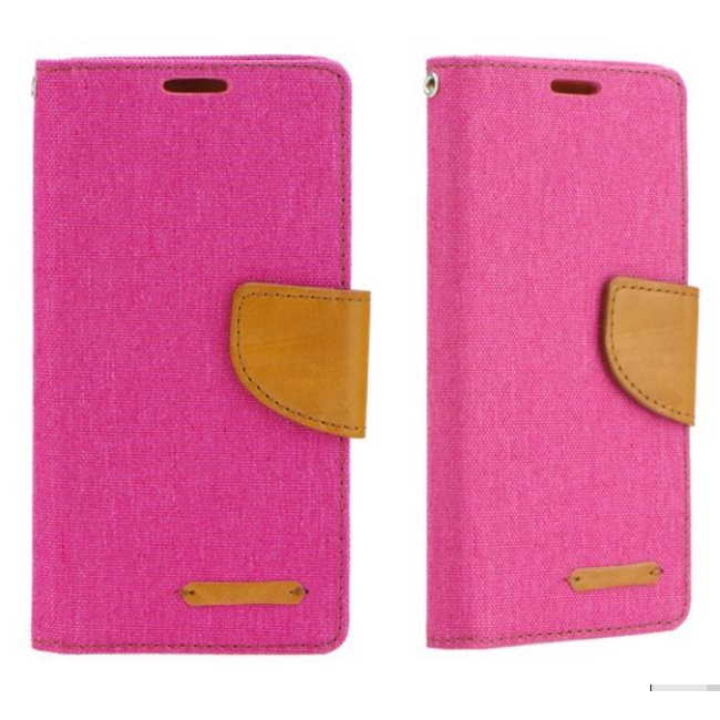 Diárové puzdro Mercury Canvas pre Lenovo Vibe C2, Pink 5901737379115