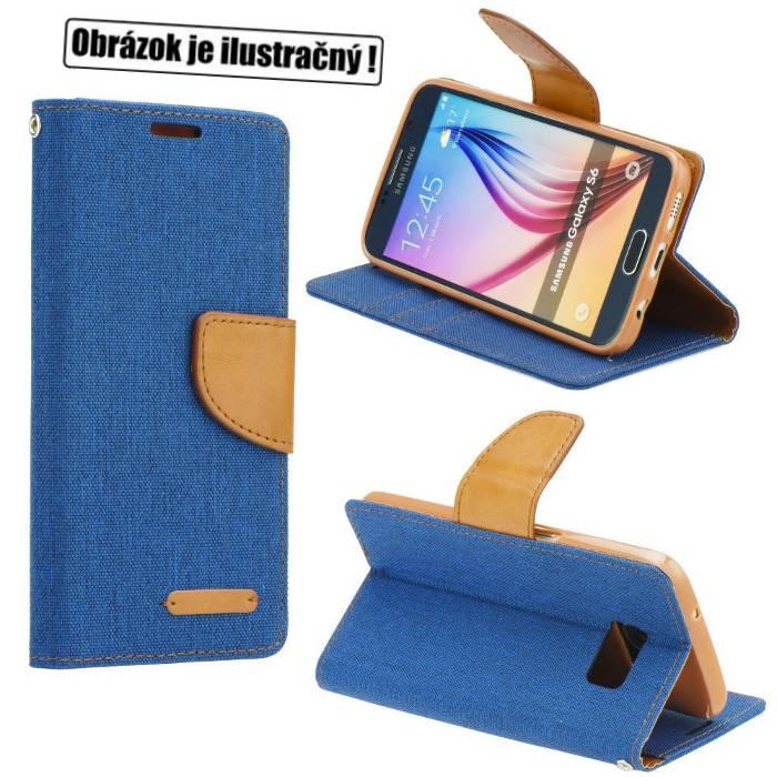 Diárové puzdro Mercury Canvas pre Lenovo Vibe S1, Blue