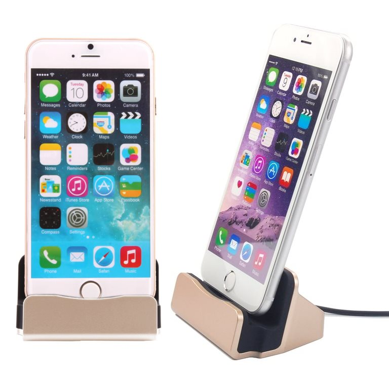 Dokovacia stanica BestStation pre Apple iPhone 6 / 6S a Apple iPhone 5 / 5S, Gold