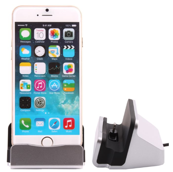Dokovacia stanica BestStation pre Apple iPhone 6 / 6S a Apple iPhone 5 / 5S, Grey