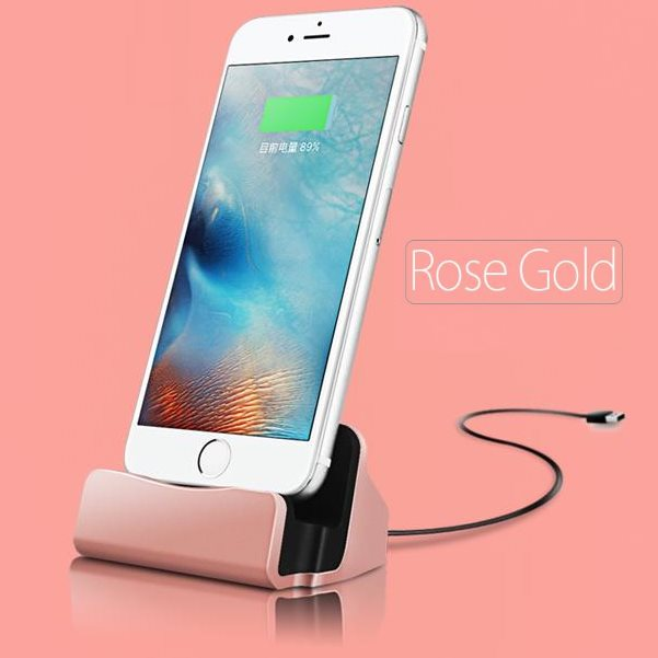 Dokovacia stanica BestStation pre Apple iPhone 6 / 6S a Apple iPhone 5 / 5S, Rose Gold