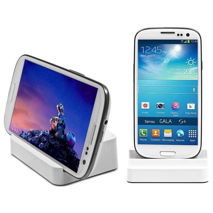 Dokovacia stanica DUO pre Samsung Galaxy Core Plus - G3500, White