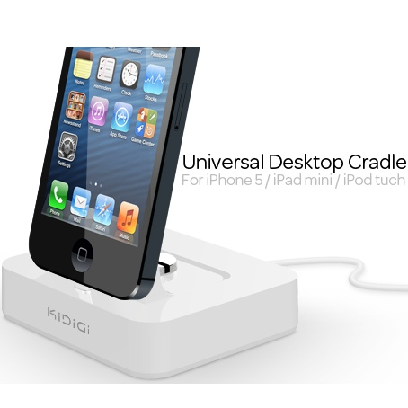 Dokovacia stanica Kidigi pre Apple iPhone 5, White